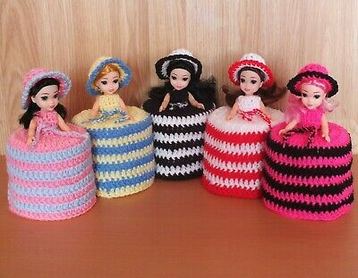 1 TOILET ROLL, DOLLS COVER, CROCHET HAND MADE Or Any Colour Please Email Me,, • 9.99£