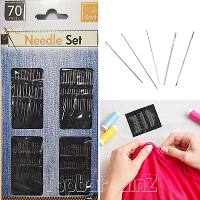 £3.29 • Buy Sewing Needles Assorted Sizes Hand Self Threading Mending Craft Sew Stitch 70pcs