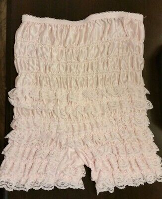$14.59 • Buy Vintage Pale Pink Square Dance Ruffles Pettipants FANTASIA Sz Small