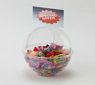 10x Sweet Dispenser Pick N Mix Spherical Counter Top Dump Bin Sweets OW9702 • 160£