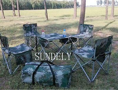 5 Pcs Portable Folding Camping Picnic Table Outdoor BBQ Chairs Stools Set FAST • 105.64£