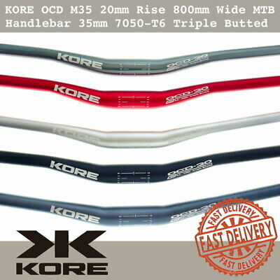 $39.90 • Buy KORE OCD M35 20mm Rise 800mm Wide MTB 35mm Handlebar Alu 7050-T6 Triple Butted