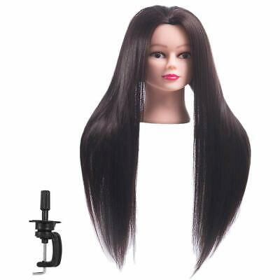 $22.99 • Buy Cosmetology Mannequin Head Human Hair Hairdresser Training Super Long 26-28 New