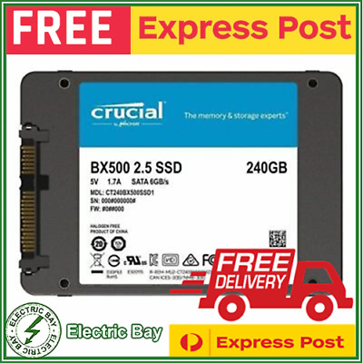 AU129 • Buy 3x 240GB SSD Crucial BX500 2.5  SATA Internal Solid State Drive SSD 540Mb/s