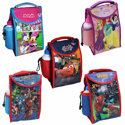 Kids Character 'Back To School' Insulated Lunch Bag And Bottle - Choose Design • 10.79£