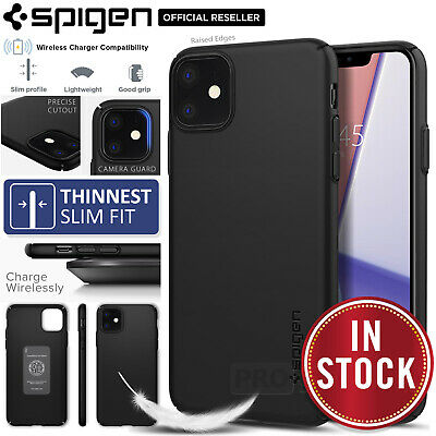 AU22.99 • Buy SPIGEN Thin Fit Air 0.7mm Hard SLIM Cover For Apple IPhone 11/Pro/Max Case