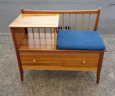Vintage Chippy Heath Telephone Seat / Table / Hall Bench    Delivery Available   • 195£
