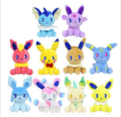 10pcs Pokemon Plush Toy Doll Eevee Leafeon Umbreon Sylveon Collection Kids Gifts • 5.99£