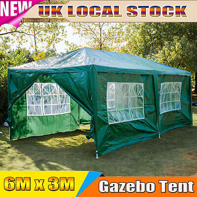 £103.50 • Buy 6x3M Car Shelter Tent Garden Gazebo Marquee Waterproof Party Canopy By Dayplus