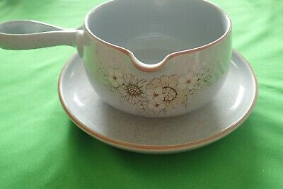 Denby Reflections Sauce / Gravy Boat & Saucer Stand • 15£