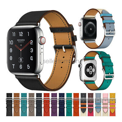 AU22.99 • Buy Apple Watch Series 6 5 4 3 2 Band, Single Tour Genuine Leather IWatch SE Strap
