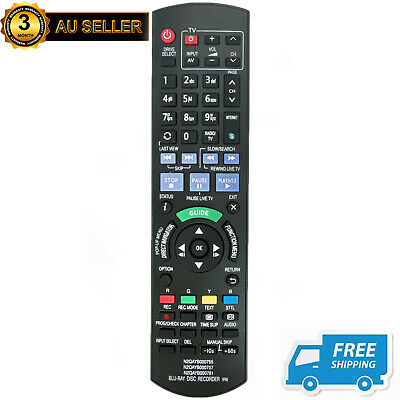 AU18.45 • Buy New N2QAYB000757 Remote For Panasonic Blu-Ray Disc Recorder DMRPWT520 DMRPWT530