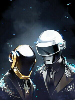 Daft Punk Duo Outer Space Robots Helmets Wall Print POSTER UK • 56.95£