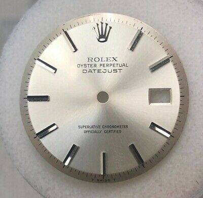 $ CDN416.15 • Buy Vintage Rolex Men Datejust Silver Stick 6&9 Marker Dial Part T Swiss T-1601-1603