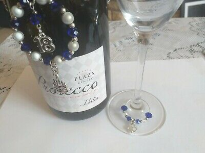 18th Birthday  Wine Bottle & Wine Glass Charm Set~Bespoke ~~various Charms  • 4.99£