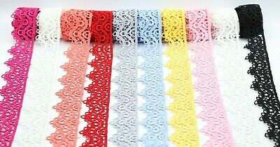 3Cm Beautiful Daisy Lace Trim In Colours Guipure Ideal For Embellishing Sewing  • 2.49£
