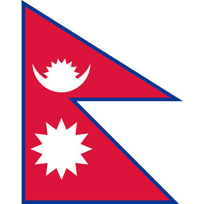 Nepal Country Flag | Sticker | Decal | Multiple Styles To Choose From • 2.21£