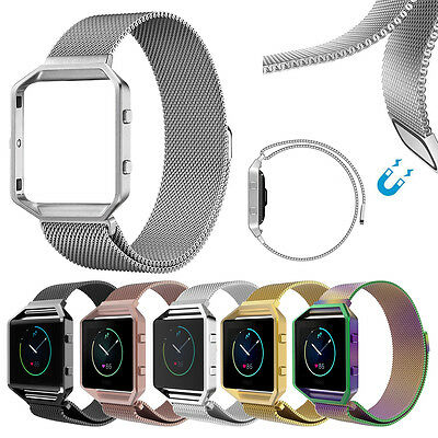 AU22.48 • Buy Milanese Loop Magnetic Stainless Steel Watch Band Strap + Frame For Fitbit Blaze