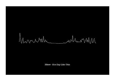 £11.99 • Buy Elbow - One Day Like This - Heartbeat Sound Wave Art Print
