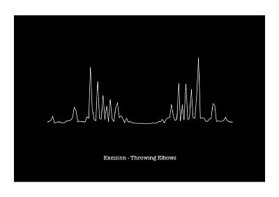 £11.99 • Buy Excision - Throwing Elbows - Heartbeat Sound Wave Art Print