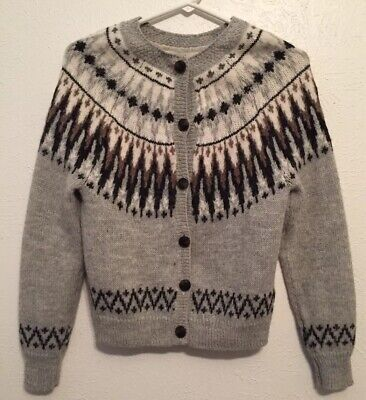 H&M Size XS Label Of Graded Goods Women Button Down Black Gray Brown Sweater • 25.50$