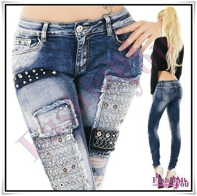 £24.74 • Buy Women's Denim Jeans Sexy Ladies Ripped Skinny Trousers Hipsters Size 6-12 UK