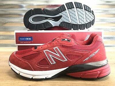 $93.49 • Buy New Balance 990V4 M990RD4 Running Shoes Red Black SZ 8.5 NEW WITH BOX!!