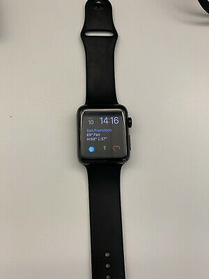 $ CDN561.65 • Buy Apple Watch Series 3 42mm Space Black Stainless Steel Case With Black Sport Band