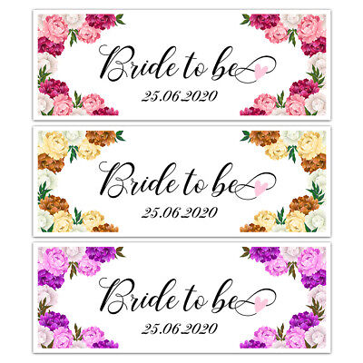 £3.99 • Buy X 2 Personalised Date Bride To Be Bridal Shower Banners Hen Party Decorations