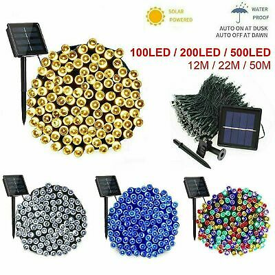 Waterproof Outdoor Solar Fairy Lights 100-500 LED Warm White Christmas Tree LEDS • 7.99£