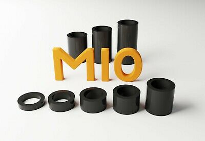 M10 Black Plastic Spacers Standoff Washer Nylon 3mm To 30mm Choice Of Quantity. • 3£
