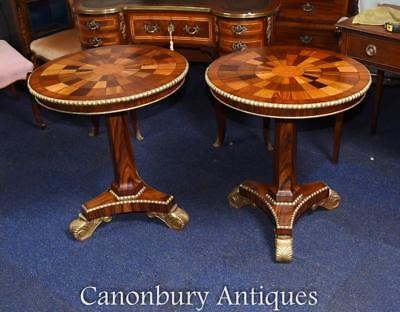 Pair Russian Side Tables Marquetry Inlay  • 3,850£