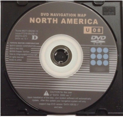 $ CDN12.12 • Buy NEW LATEST Toyota Lexus U08 13.1 Navigation GPS Map Update DVD Gen 2/3 WEST