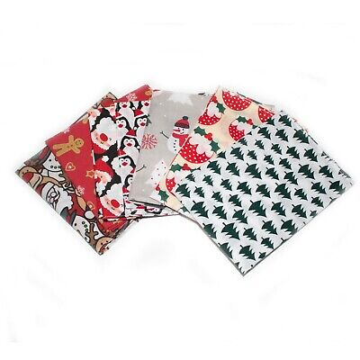 Men's Christmas Jumper Day Pocket Square Hanky Various Designs Cotton Hand Made • 3.29£