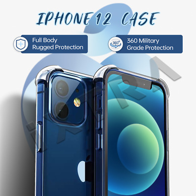 AU6.66 • Buy 【Airbag Shockproof】iPhone 12/11/Pro/Max Clear Case Bumper Slim Cover Silicone