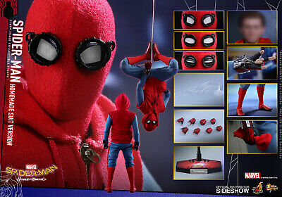 AU745 • Buy HOT TOYS Spiderman Homecoming Homemade Suit MMS414 Movie Masterpiece NEW