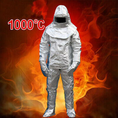 1000°c Thermal Radiation Heat Resistant ALUMINIZED Suit Fireproof Cloth Sharelov • 189$