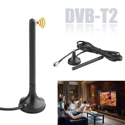 Indoor HD Antenna For Digital TV DVB-T2 HDTV Aerial Freeview Mini Magnetic Base • 2.89£