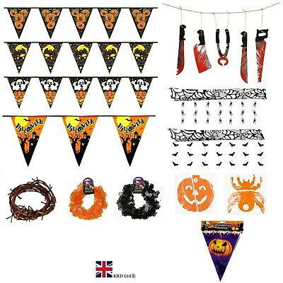 £3.25 • Buy HALLOWEEN BUNTING Garden Party Banner Hanging Home Decoration Foil Paper Garland