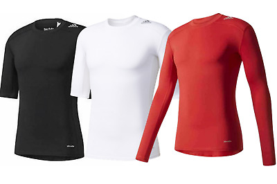 Adidas TechFit Base Layer Shirt~Mens Compression Top~ClimaLite~All Sizes~RRP £22 • 13.99£