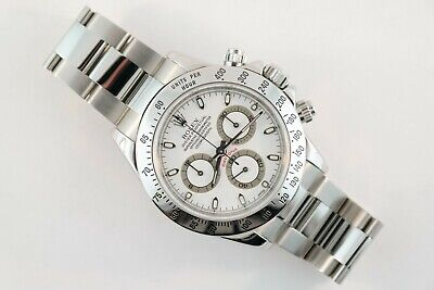 $ CDN23096.13 • Buy Men's Rolex Daytona 116520 White Dial Chronograph Oyster Band Year 2005