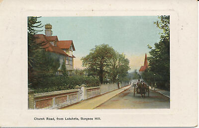 PC23783 Church Road. From Latchets. Burgess Hill. A. H. Homewood. 1913 • 6.75£