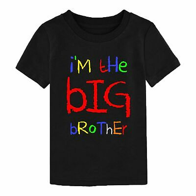 I'm The Big Brother T-Shirt Funny Birthday Gift Mens Youth Children Boy Kids Top • 8.99£