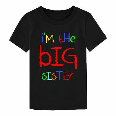 I'm The Big Sister T-Shirt Funny Birthday Gift Ladies Youth Child Boy Kids Top • 5.99£