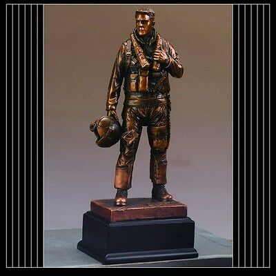 $68.50 • Buy Military Armed Forces AIR FORCE Beautiful Bronze Statue / Sculpture Brand New