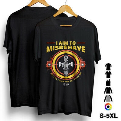 I Aim To Misbehave T-Shirt Space Browncoat Blue Washburne Space Ship Stars D352 • 11.99£