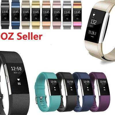 AU2.99 • Buy Replacement Fitbit Charge 2 Wristband Silicone Watch Wrist Sports Band Strap