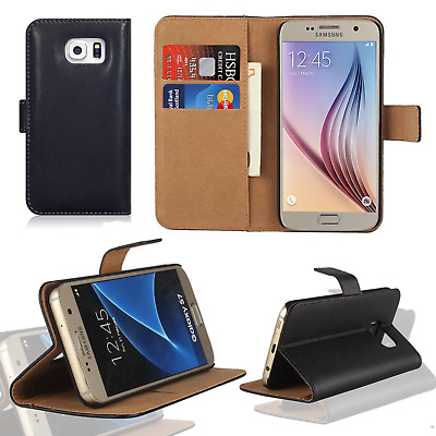 $ CDN6.16 • Buy Luxury Leather Flip Case Wallet Cover For Samsung Galaxy Mobile Phones