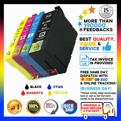 AU41.80 • Buy Any YYUDA 702 XL 702XL NoN-OEM Ink For Epson Workforce WF-3720 WF-3725 WF-3730