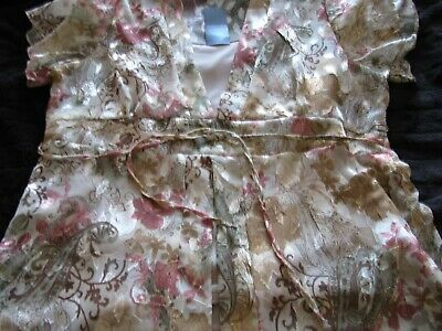 £4 • Buy FOREVER BY Michael Gold Size M Ladies 2 PIECE BLOUSE NWT